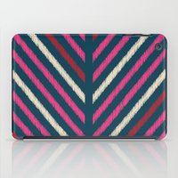 Wild_Chevron_Ikat_Navy iPad Case