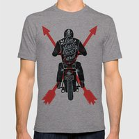 Live Fast, Love Hard Mens Fitted Tee Tri-Grey SMALL