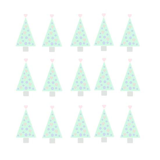 Pastel Christmas Tree Design Art Print