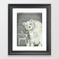 polar opposite. Framed Art Print