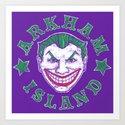 Arkham Island Art Print