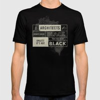 Architects wear black Mens Fitted Tee Black SMALL