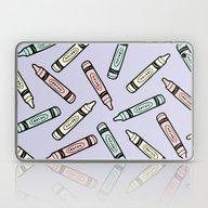 Crayons On Lilac Pattern Laptop & iPad Skin
