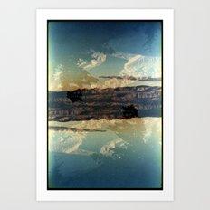 Landscapes c13 (35mm Double Exposure)  Art Print