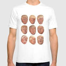 Faces Of Donald Trump Mens Fitted Tee White SMALL