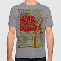 Map design of the University of southern California, LA Mens Fitted Tee Athletic Grey SMALL