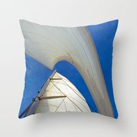 PLAIN SAILING Throw Pillow