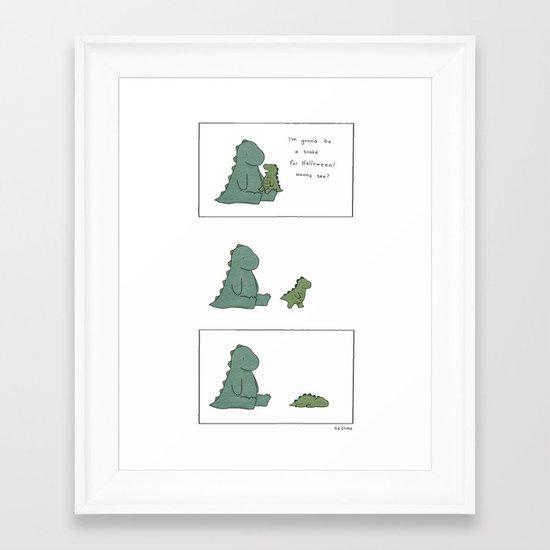 Snake Monster Framed Art Print