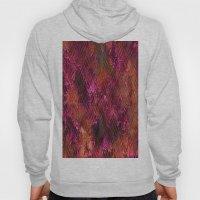 Imprinted Shocking Pink Metal Look Hoody