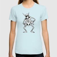 Jack Of Spades Womens Fitted Tee Light Blue SMALL