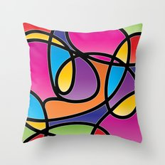 Loops Color 2 Throw Pillow