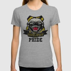 Hufflepuff Pride Womens Fitted Tee Athletic Grey SMALL