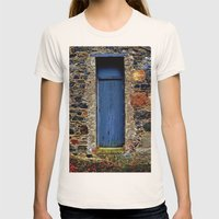 The Blue Door of Ballymascanlon Womens Fitted Tee Natural SMALL