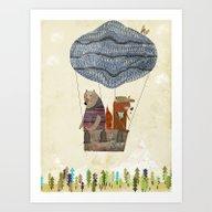 Mr Fox And Bears Wondrou… Art Print