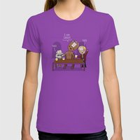 Who Am I? Womens Fitted Tee Ultraviolet SMALL