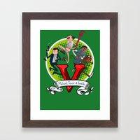 GTA TIME!! Framed Art Print