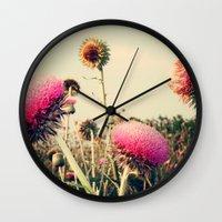Flower World! Wall Clock