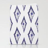 Grey & Denim Ikat Stationery Cards