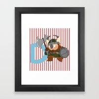 D For Dwarf Framed Art Print