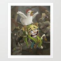 zelda Art Prints featuring Zelda by Dave Armstrong