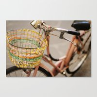 pink bicycle  - bicicletta rosa Canvas Print