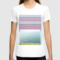 AZTEC 'Beyond The Sea' 1… Womens Fitted Tee White SMALL