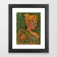 Scarlet & Equine Framed Art Print