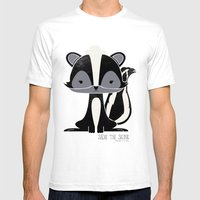 Sadie The Skunk Mens Fitted Tee White SMALL