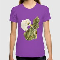White Calla Lily Womens Fitted Tee Ultraviolet SMALL