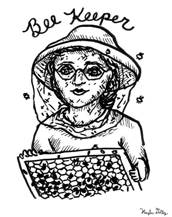 Beekeeper Art Print