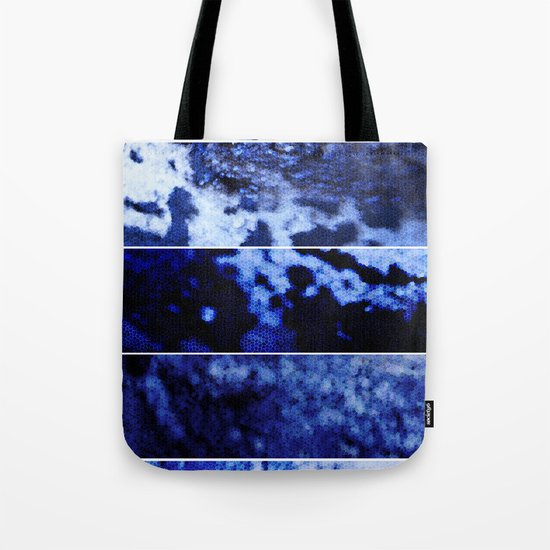 Blue Magnification (Five Panels Series) Tote Bag