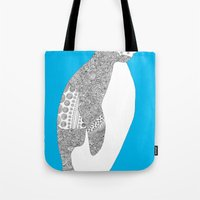 Light blue-Penguin Tote Bag