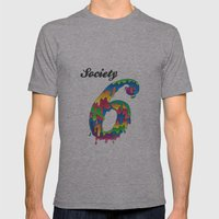 Society 6 Mens Fitted Tee Athletic Grey SMALL
