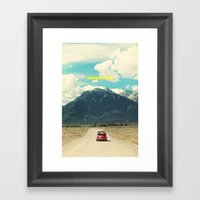 NEVER STOP EXPLORING III Framed Art Print