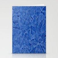 Vibrant Light Blue Plast… Stationery Cards