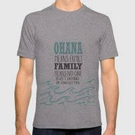 Ohana Means Family.. Lil… Mens Fitted Tee Athletic Grey SMALL