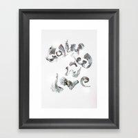 Collapsed in Love Framed Art Print
