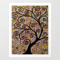 Abstract tree-11 Art Print