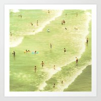 Let's Go Swimming Art Print