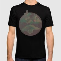 Camouflage Year Of Horse Mens Fitted Tee Black SMALL
