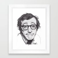 Woody Allen Framed Art Print