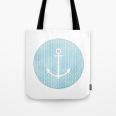 Anchor in Blue Tote Bag