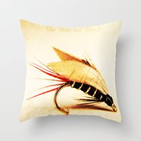 The Blae and Black Throw Pillow