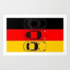 German Horsepower Art Print