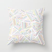 Ab Linear Rainbowz Throw Pillow