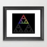 The Sierpinski Of Creati… Framed Art Print