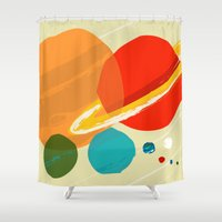 The planets Shower Curtain