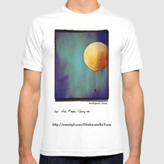 Tethered Moon Mens Fitted Tee SMALL White
