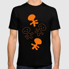 Aliens-Orange Black SMALL Mens Fitted Tee
