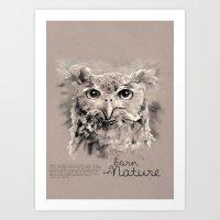 Owl (BornInNature) Art Print